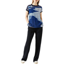 Buy Jigsaw Ocean Tide Jumper, Navy Online at johnlewis.com