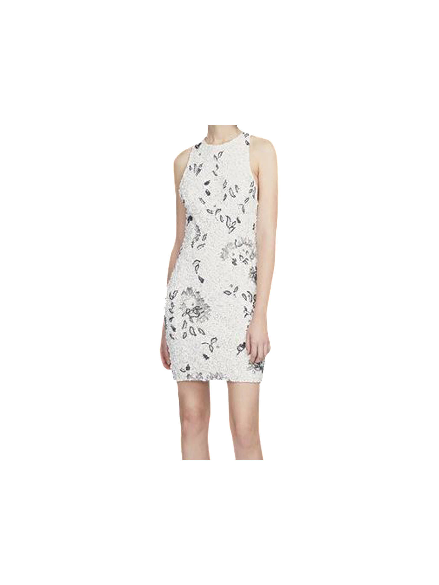 d38d50f2bc1 Buy French Connection Valerie Sparkle Dress, Winter White, 6 Online at  johnlewis.com ...