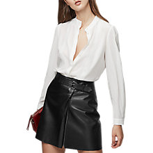 Buy Reiss Maly Lace Placket Blouse, Off White Online at johnlewis.com