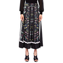 Buy Ted Baker Lottut Unity Floral Print Culottes, Black Online at johnlewis.com