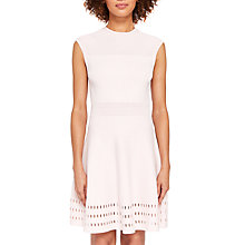 Buy Ted Baker Aurbray Knitted Skater Dress, Pink Online at johnlewis.com