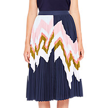 Buy Ted Baker Evianna Mississippi Pleated Skirt, Navy Online at johnlewis.com