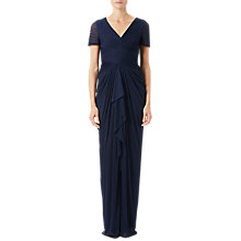 Buy Adrianna Papell Petite Pin Tucked And Draped Gown, Midnight Online at johnlewis.com
