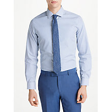 Buy Richard James Mayfair Dobby Stripe Slim Fit Shirt, Blue/White Online at johnlewis.com