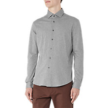 Buy Reiss Hilson Long Sleeve Shirt, Grey Marl Online at johnlewis.com
