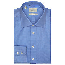 Buy Chester by Chester Barrie Mini Houndstooth Tailored Shirt, Navy/White Online at johnlewis.com