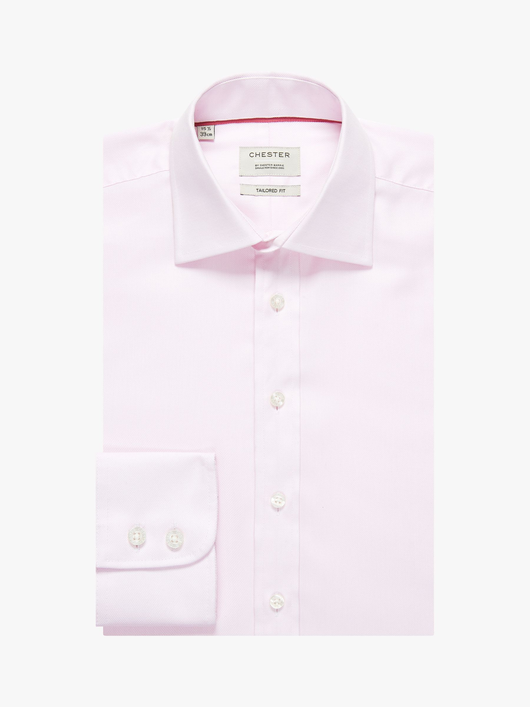 Chester by Chester Barrie Chester by Chester Barrie 100s Royal Oxford Tailored Shirt, Pink