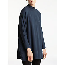 Buy Kin by John Lewis Funnel Neck Batwing Top, Navy Online at johnlewis.com