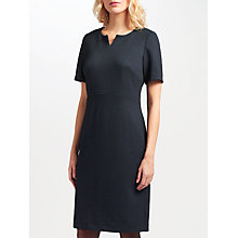 Buy John Lewis Jolie Notched Neck Jersey Pencil Dress, Deep Blue Online at johnlewis.com