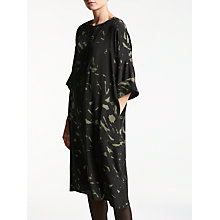 Buy Kin by John Lewis Brush Print Dress, Khaki Online at johnlewis.com