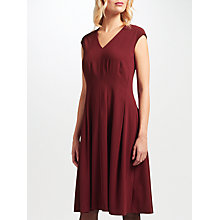 Buy John Lewis Fit and Flare Dress, Wine Online at johnlewis.com