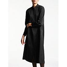 Buy Kin by John Lewis Satin Back Crepe Shirt Dress, Black Online at johnlewis.com