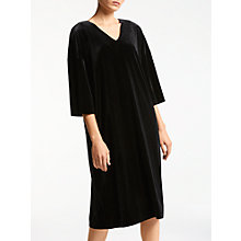 Buy Kin by John Lewis Velvet Oversized Dress, Black Online at johnlewis.com