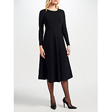 Buy John Lewis Knitted Fit And Flare Dress, Black Online at johnlewis.com