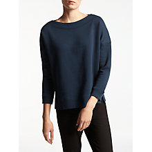 Buy Kin by John Lewis Boat Neck Sweatshirt, Navy Online at johnlewis.com