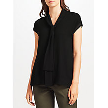 Buy John Lewis Zavia Neck Tie Top, Black Online at johnlewis.com