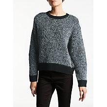 Buy Kin by John Lewis Twill Knit Jumper, Black Online at johnlewis.com