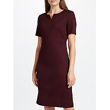 Buy John Lewis Jolie Notched Neck Jersey Pencil Dress, Wine Online at johnlewis.com