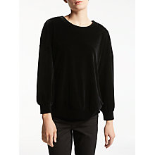 Buy Kin by John Lewis Velvet Sweatshirt, Black Online at johnlewis.com