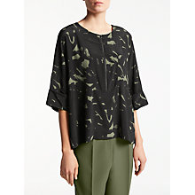 Buy Kin by John Lewis Brush Print T-Shirt, Khaki Online at johnlewis.com