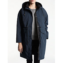 Buy Kin by John Lewis Removable Lining Parka Coat, Navy Online at johnlewis.com