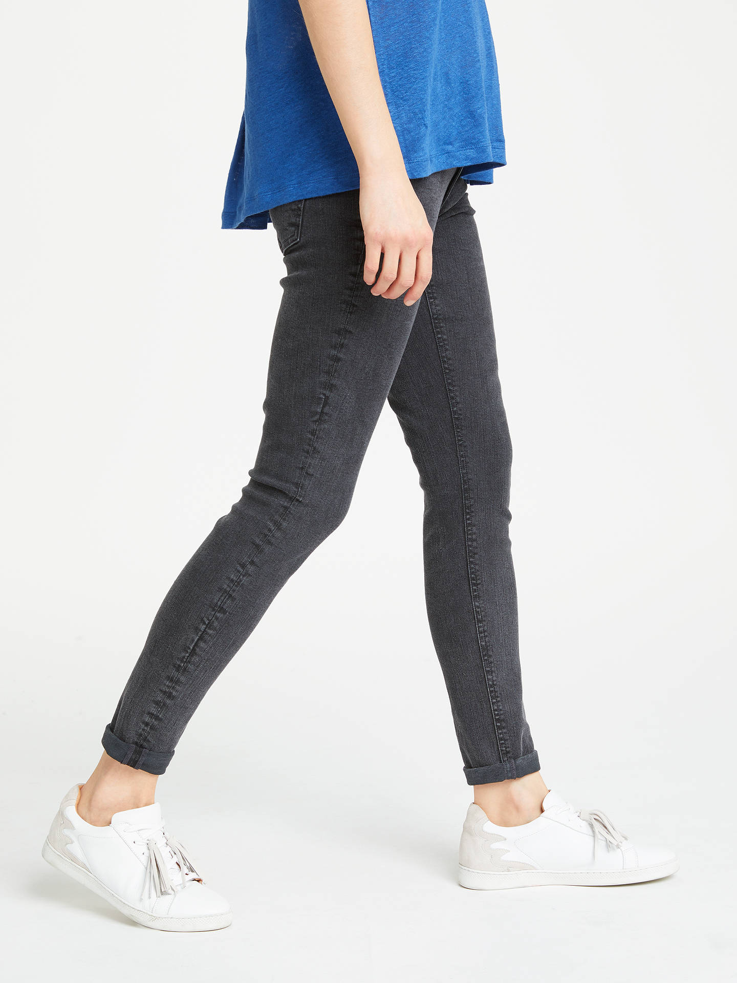 BuyAND/OR Abbot Kinney Skinny Jeans, Charcoal, 26 Online at johnlewis.com