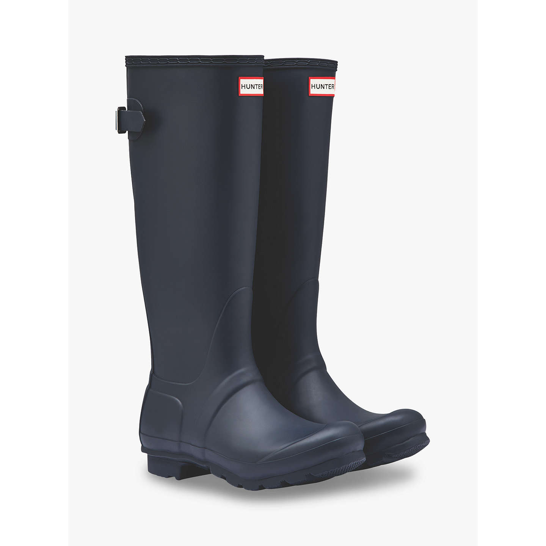 BuyHunter Women's Original Waterproof Tall Adjustable Wellington Boots, Navy,  4 Online at johnlewis.