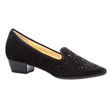 Buy Gabor Goody Closed Block Heeled Court Shoes, Black Online at johnlewis.com