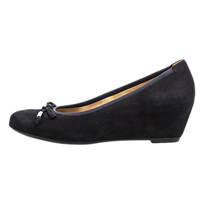 Gabor Alvin Concealed Wedge Heel Court Shoes, Pacific Suede