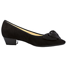Buy Gabor Tarbert Pointed Toe Court Shoes, Black Suede Online at johnlewis.com