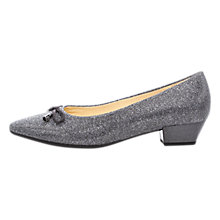 Buy Gabor Ackroyd Pointed Toe Court Shoes, Pewter Online at johnlewis.com