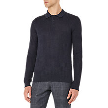 Buy Reiss Mountain Textured Weave Long Sleeve Polo Shirt Online at johnlewis.com
