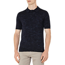 Buy Reiss Junior Fleck Weave Wool Polo Shirt, Airforce Blue Online at johnlewis.com