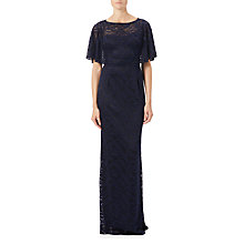 Buy Adrianna Papell Stretch Lace Caplet Gown, Ink Online at johnlewis.com