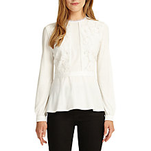 Buy Phase Eight Victoriana Top, Ivory Online at johnlewis.com