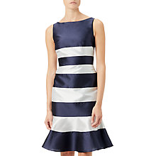 Buy Adrianna Papell Faille Trumpet Skirt Dress, Midnight/Ivory Online at johnlewis.com