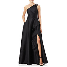 Buy Adrianna Papell Faille Drape Gown, Black Online at johnlewis.com