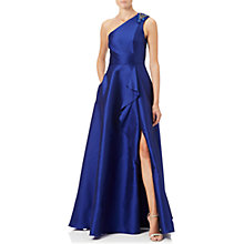Buy Adrianna Papell Petite Faille Drape Gown Online at johnlewis.com