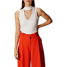 Buy Karen Millen Ponte Choker Top, Ivory Online at johnlewis.com