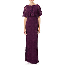 Buy Adrianna Papell Rose Lace Crepe Mermaid Gown, Mulberry Online at johnlewis.com