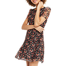 Buy Oasis Small Rose Lace Dress, Multi Black Online at johnlewis.com