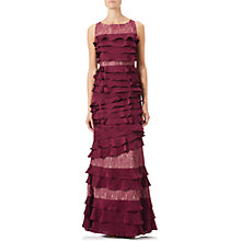 Buy Adrianna Papell Lace Satin Chiffon Gown, Black Cherry Online at johnlewis.com