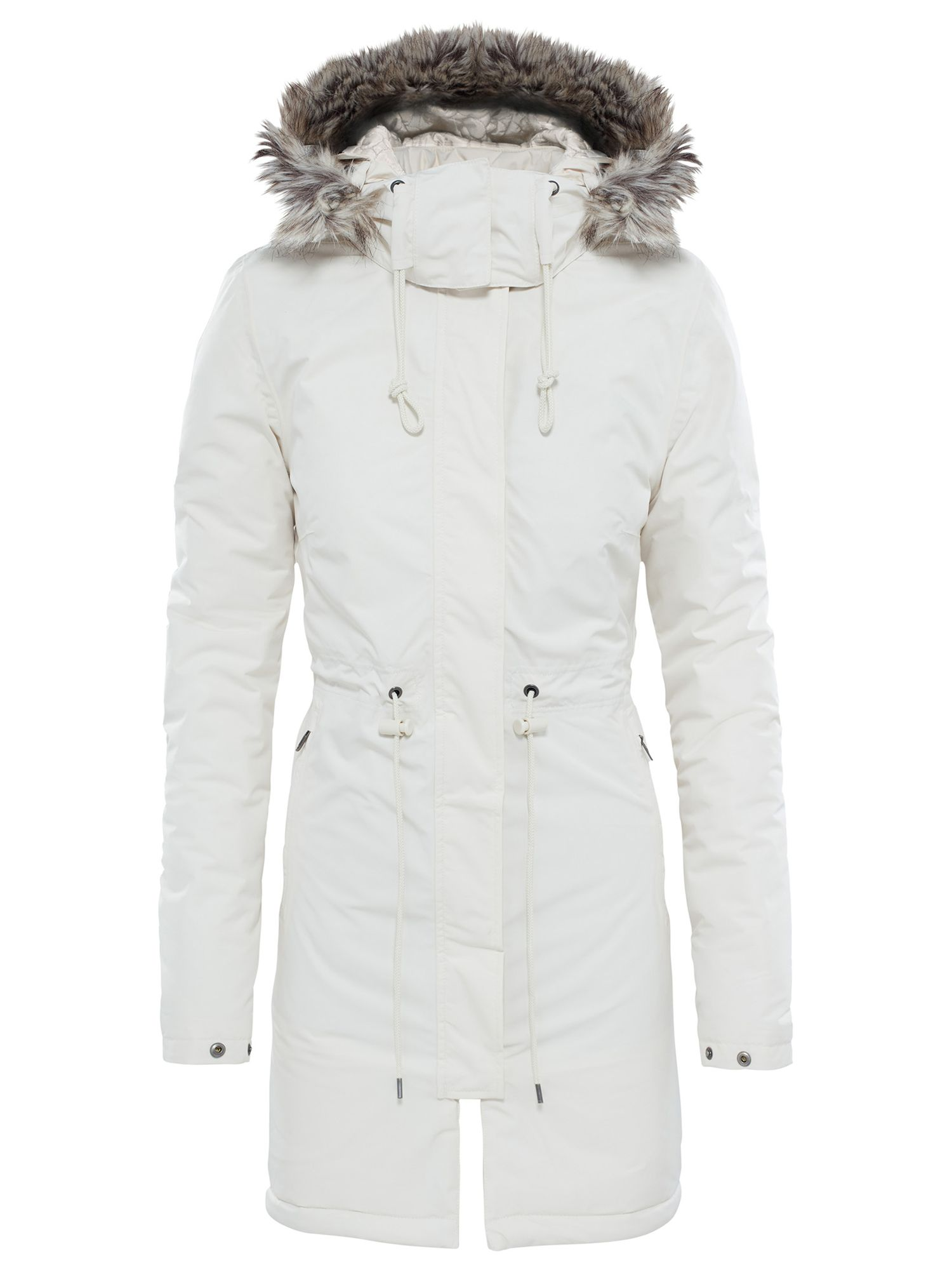 a0ed84a14 The North Face Zaneck Hooded Women's Parka Jacket, Vintage White at ...