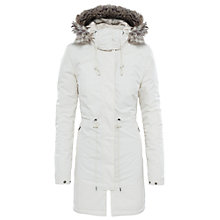 Buy The North Face Zaneck Hooded Women's Parka Jacket, Vintage White Online at johnlewis.com