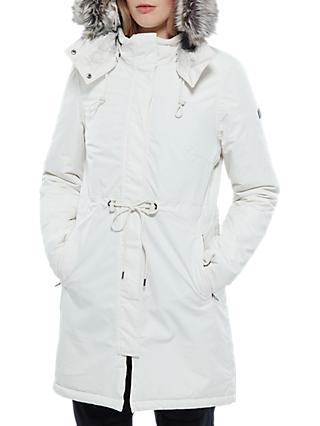 The North Face Zaneck Hooded Women's Parka Jacket, Vintage White