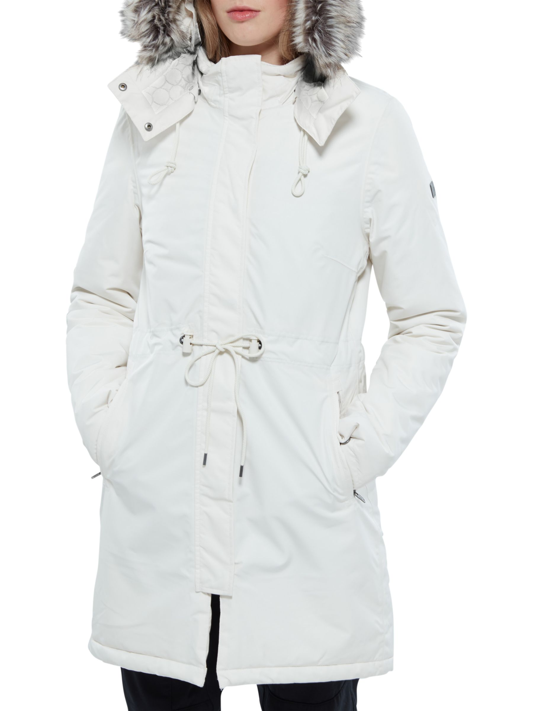 The North Face The North Face Zaneck Hooded Women's Parka Jacket, Vintage White