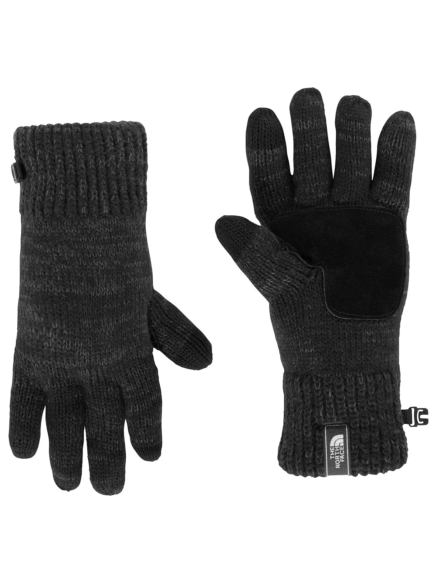 398a9d65774c47 The North Face Salty Dog Knitted Etip Gloves, Grey at John Lewis ...