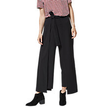 Buy Selected Femme Kimberly Cropped Trousers, Black Online at johnlewis.com