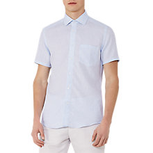 Buy Reiss Dodd Short Sleeve Linen Shirt Online at johnlewis.com