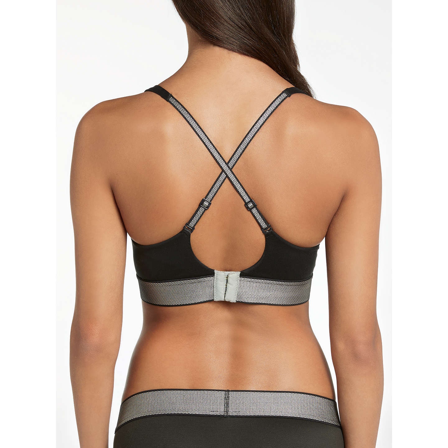 BuyCalvin Klein Underwear Customized Stretch Plunge Bra, Black, 32A Online at johnlewis.com